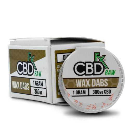 A box of CBDfx CBD Wax Dabs, 1g