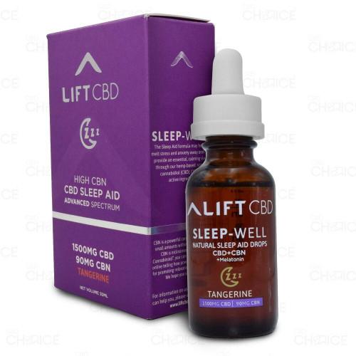 Lift CBD Tangerine CBD Sleep Aid Drops 1500mg CBD, 90mg CBN