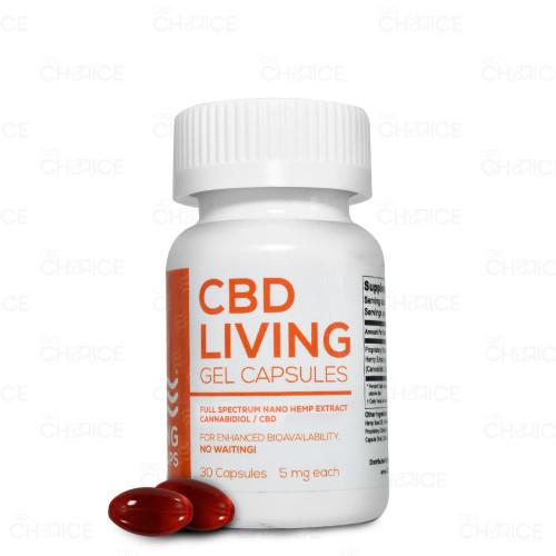 CBD Living Full Spectrum Gel Capsules 30 count