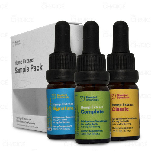 Bluebird Botanicals Hemp Oil Sample Pack 3 pack