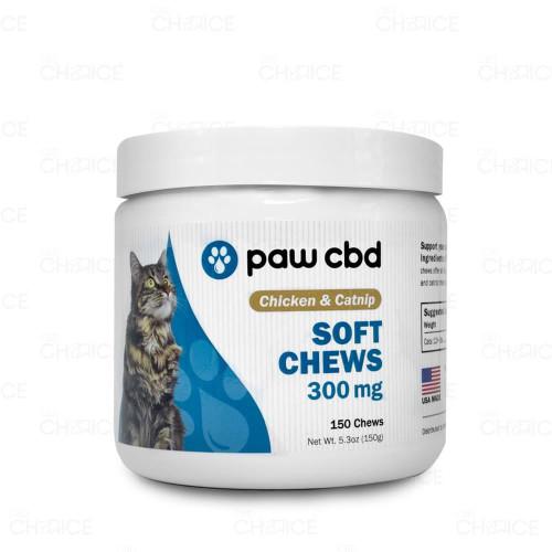Paw CBD Chicken Flavored Catnip Soft Chews 300mg