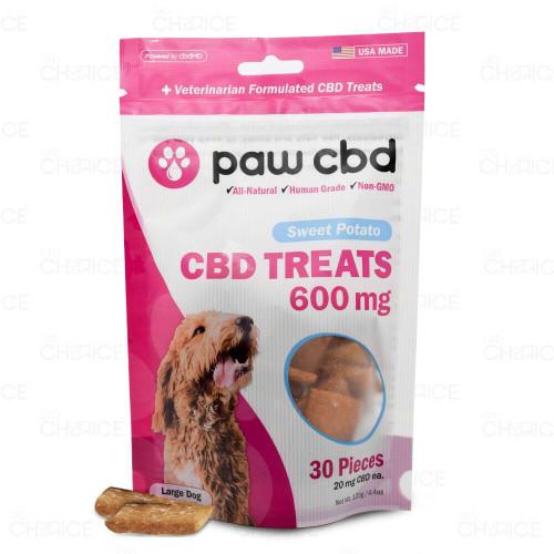 Paw CBD Sweet Potato Dog Treats 600mg