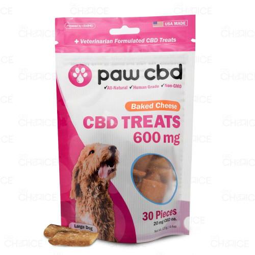 Paw CBD Baked Cheese Dog Treats 600mg