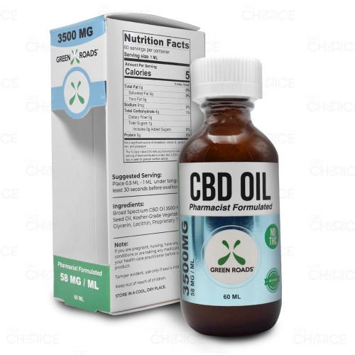 Green Roads THC-Free CBD Oil 60ml, 3500mg