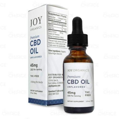 Joy Organics Natural CBD Oil 45mg per serving