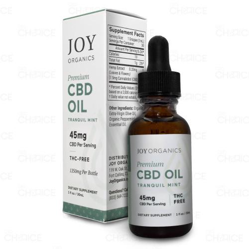 Joy Organics Tranquil Mint CBD Oil 1350mg