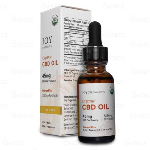 Joy Organics Orange Bliss CBD Oil 1350mg