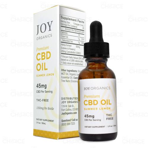 Joy Organics Summer Lemon CBD Oil 45mg per serving