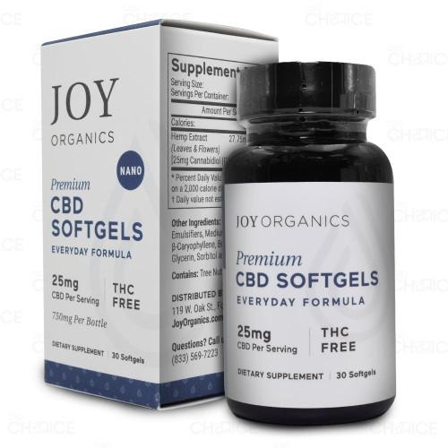 Joy Organics Premium Hemp Softgels 25mg per serving
