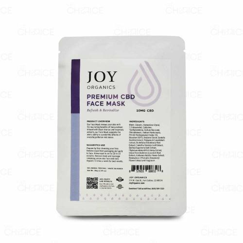 Joy Organics Premium CBD Face Mask 1 count