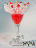 Acrylic Margarita Glass custom printed 12 oz Filled