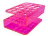 24 Hole Plexi Pink Test Tube Rack