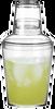 18oz Plastic Cocktail Shaker Set Filled Margarita