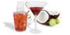 18oz Plastic Cocktail Shaker Set with Martini and Coconut