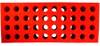 Foam Test Tube Shooter Rack 40 hole Red
