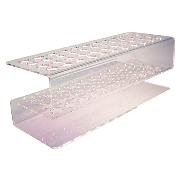 44 Hole Plexiglass Shot Tube Rack Blank
