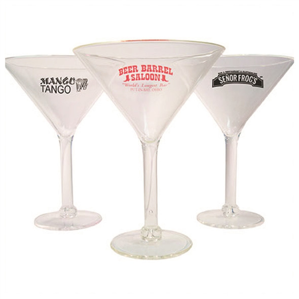 Acrylic Martini Glass custom printed 10 oz