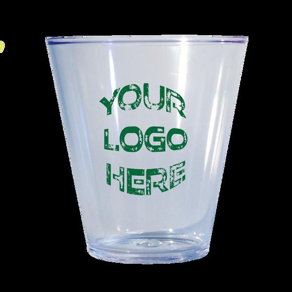 1.5 oz Plastic Traditional Shot Glass Custom Printed 100 count