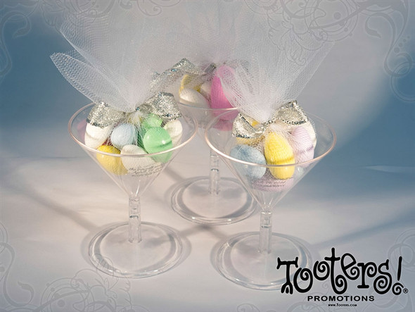 Plastic Mini Martini Glass Easter Candy Favors