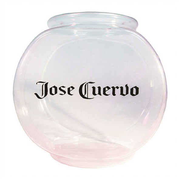 46 ounce printed plastic fish bowl with a custom imprint