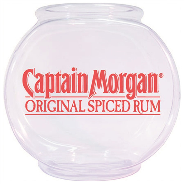 92 ounce printed plastic fish bowl with a custom imprint