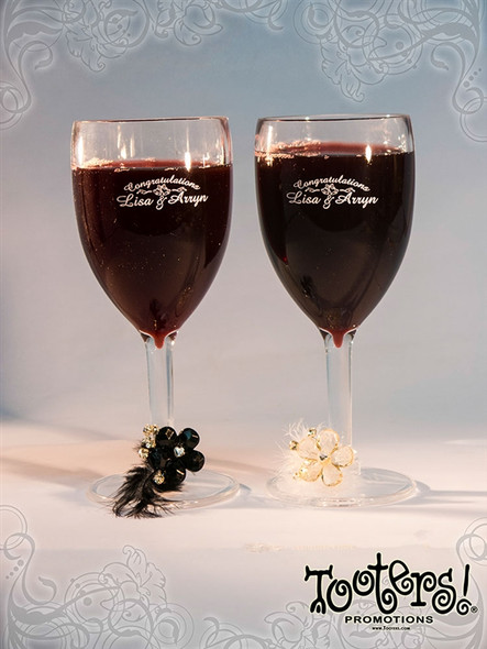 Wedding Themed Wine Glass