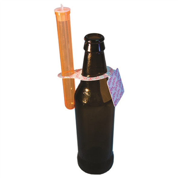 Tooter Tag on a Beer Bottle