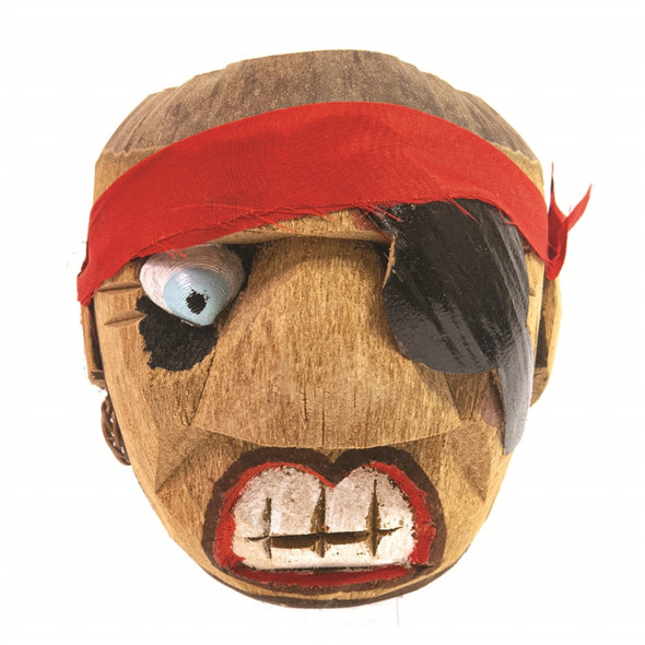 Carved Coconut Cup, Pirate
