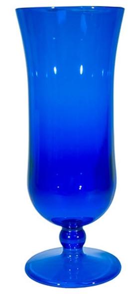 Styrene Hurricane Glass 15 oz Blue
