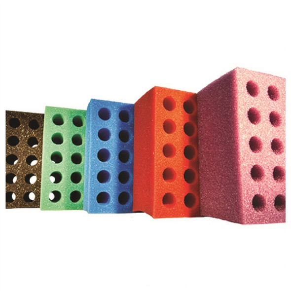 Test Tube Foam Tooter Rack 20 hole assorted colors