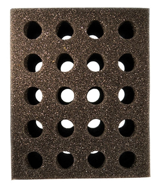 Test Tube Foam Tooter Rack 20 hole Black