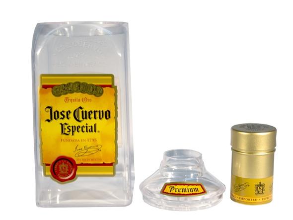Plastic Jose Cuervo Bottle Cocktail Shaker Set Disassembled