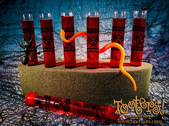 Halloween Tooters Plastic Shooters Filled in a foam rack