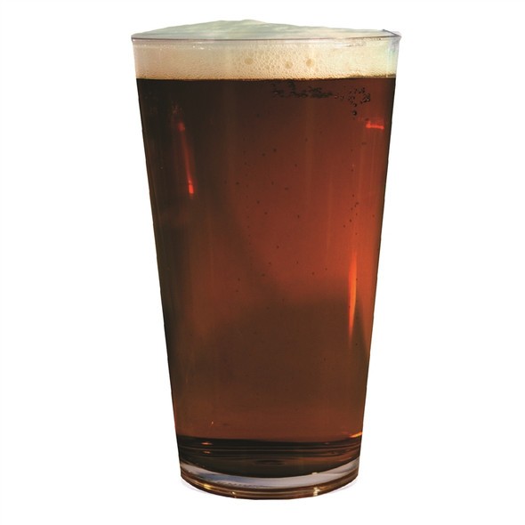 16 oz Plastic Pint Glass With Beer