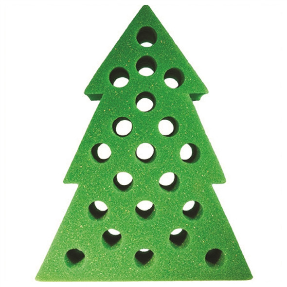 Green Christmas Tree Foam Tooter Rack