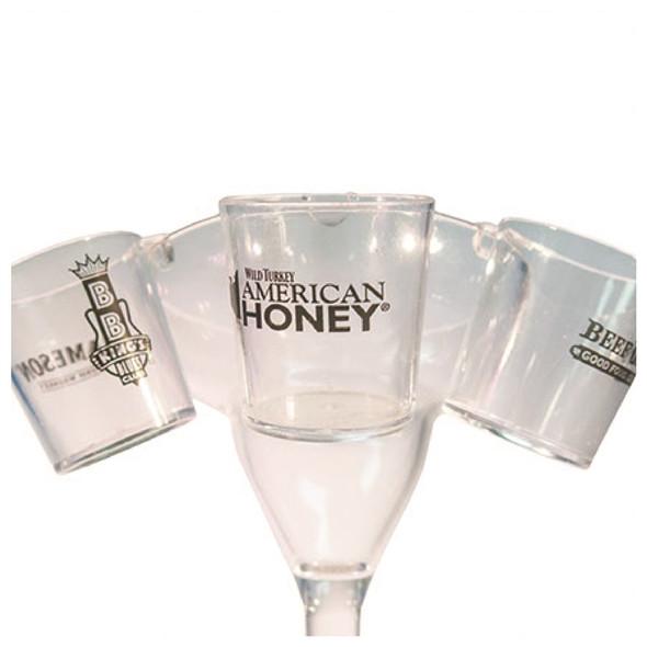 Plastic Hanging Shot Glass With Hook Custom Printed  Margarita Glass