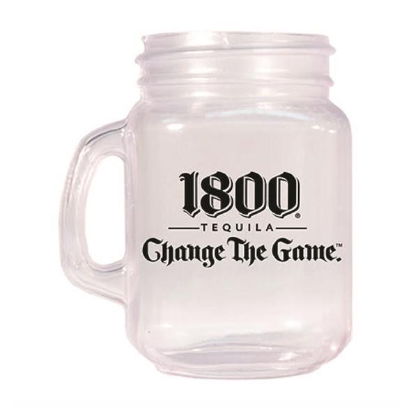 2 oz Plastic Mini Mason Jar Shots Custom Printed with 1800
