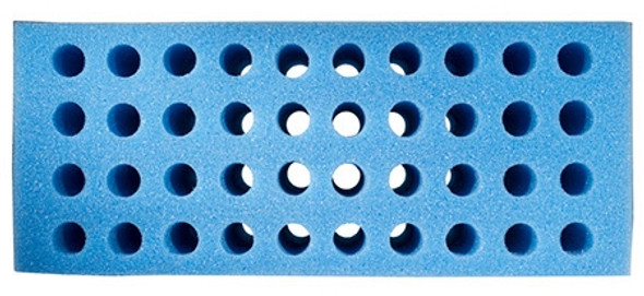 Foam Test Tube Shooter Rack 40 hole Blue