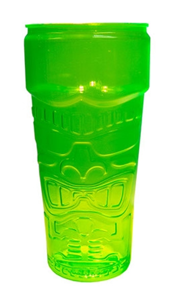 Tiki Glass Stackable 26 oz Green