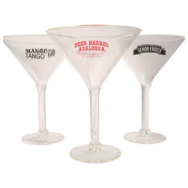 Acrylic Martini Glass custom printed 10 oz