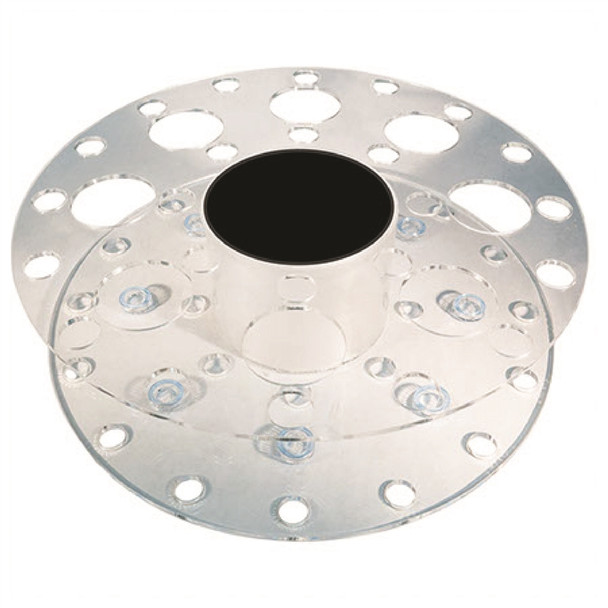 Round Lighted Combo Rack Small and Large Holes