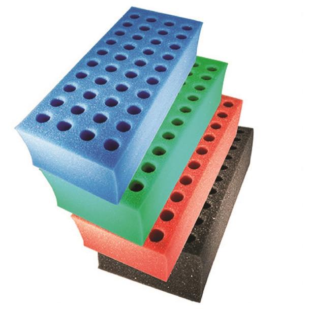 Foam Test Tube Shooter Rack 40 hole Assorted Color