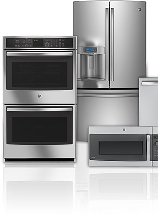 Appliances of different types including a refrigerator, oven and microwave.