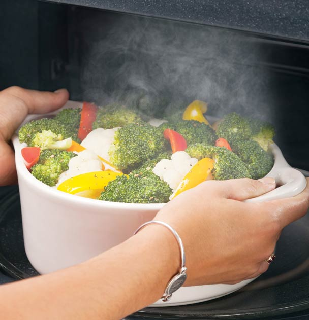 Steam cook in your microwave