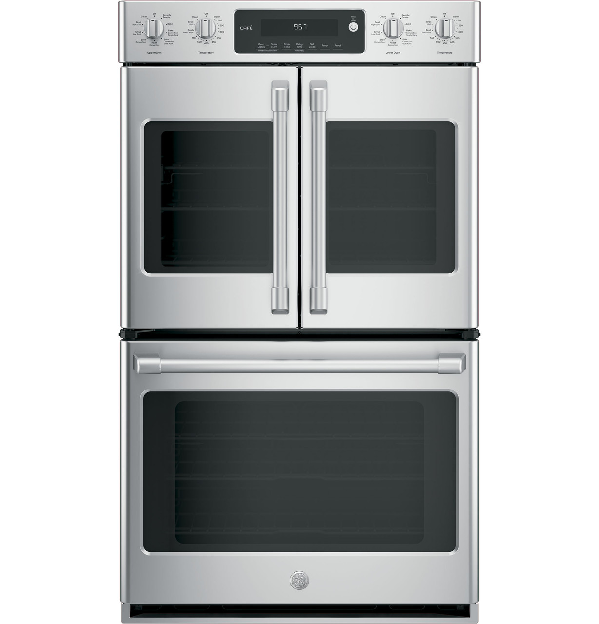 Ge Cafe Series 30 Built In Double Convection Wall Oven Ct9570slss Ge Appliances