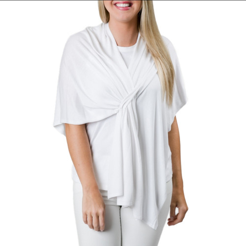 Top It Off Lightweight Wrap (White)