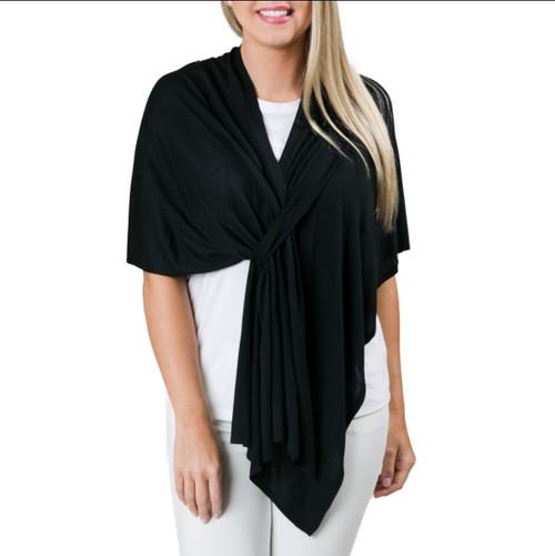 Top It Off Lightweight Wrap (Black))