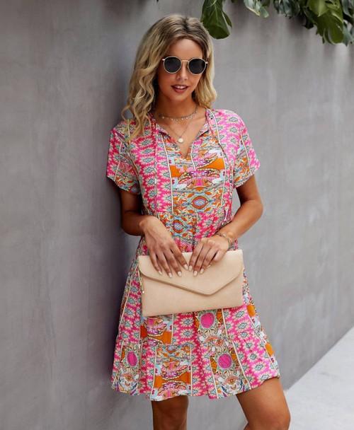 Rayon Spring Floral Dress