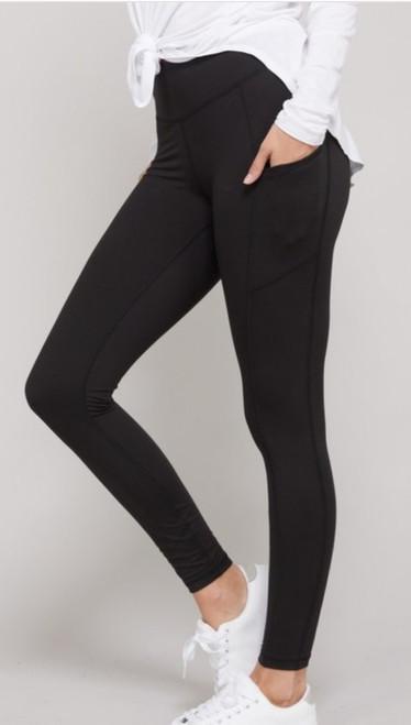 Yoga Pants (Black) with side pockets