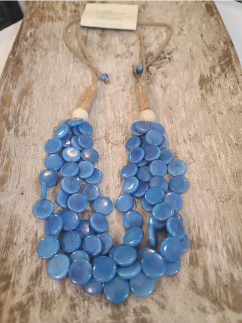 Tagua Necklace (blue)